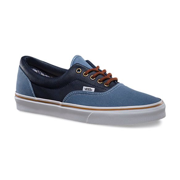 23f5bbad54fbc3 Vans Era Leather Quarter Coronet Blue Navy