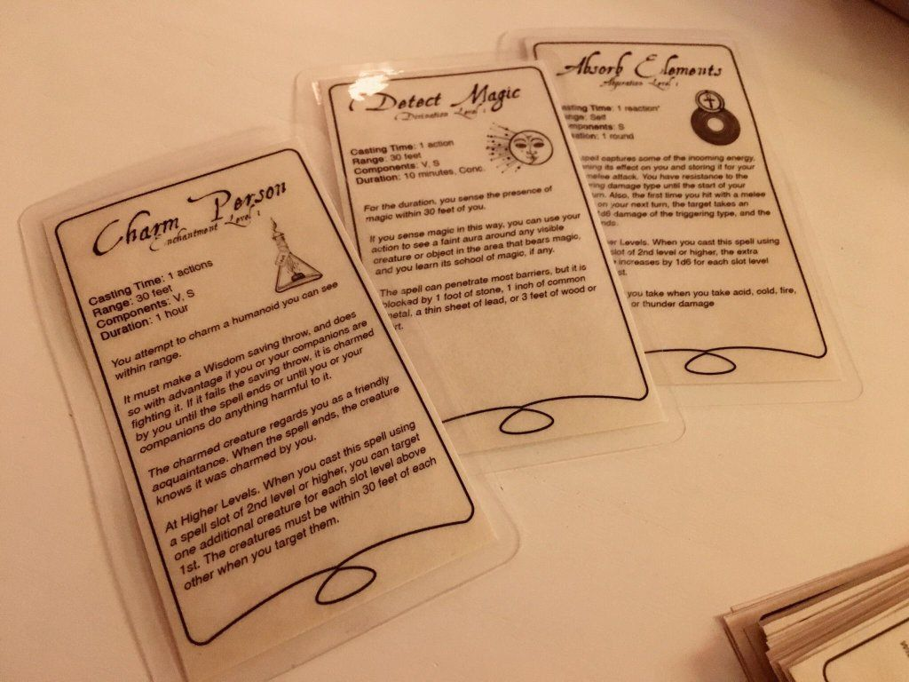 Oc Spell Cards I Made For My Players Dnd Dnd Spell Cards Dnd Character Sheet Cards