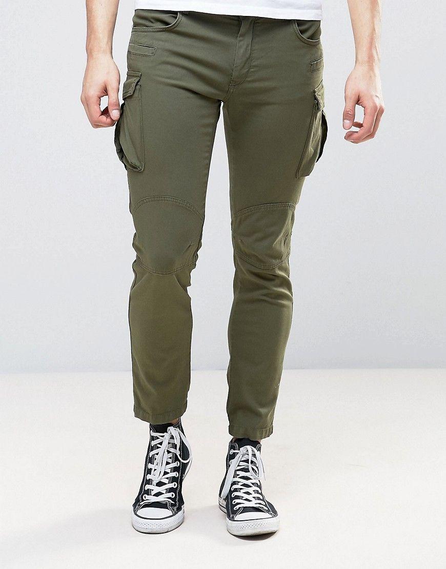 1c3b60f0d9 Sisley Cargo Pants In Slim Fit - Green