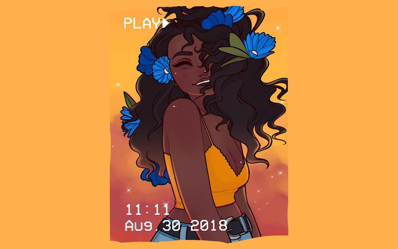 Black girl magic instagram yellow computer wallpaper in
