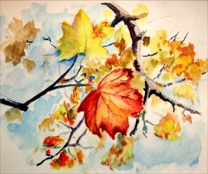 Kathy 39 s art kathy 39 s art home page art and pictures for Fall paintings easy