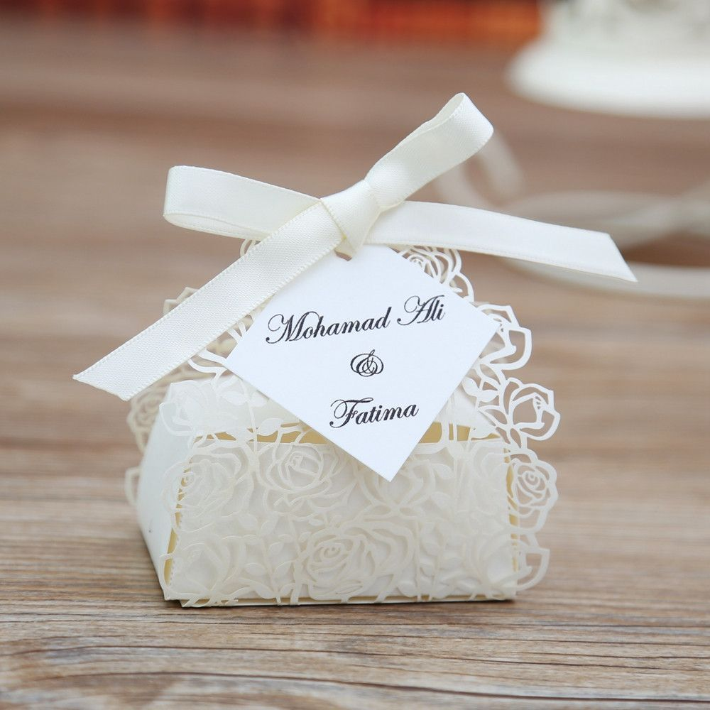100 pcs Favor Boxes | Laser cutting, Favors and Box