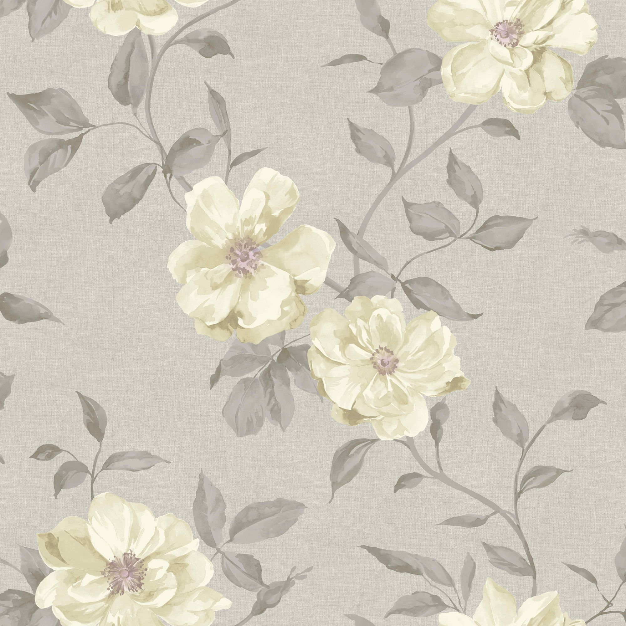 Grandeco Chloe Grey Floral Mica Wallpaper Departments