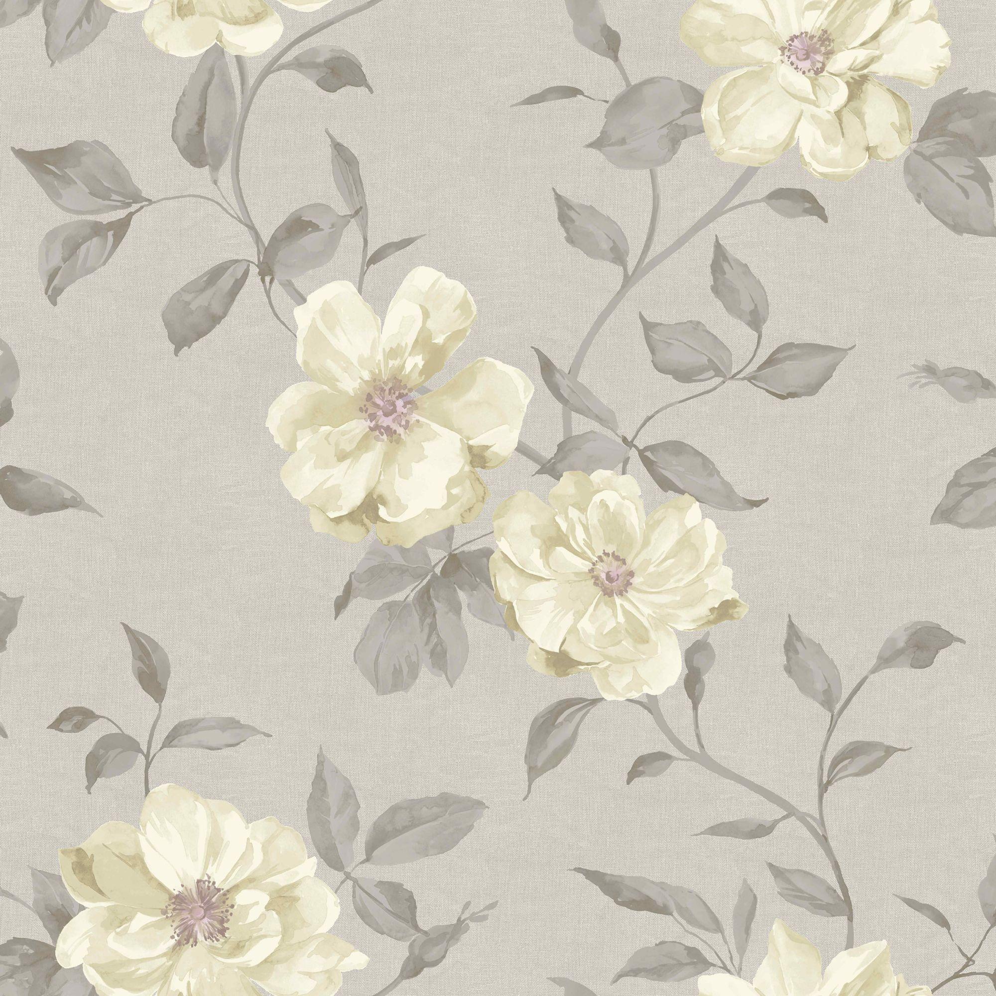 Grandeco Chloe Grey Floral Mica Wallpaper Wallpaper Floral And Grey