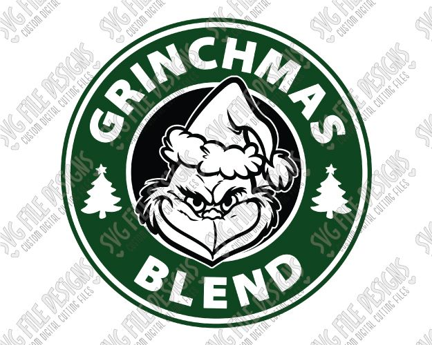 Grinch Starbucks Logo SVG Cut File Set for Christmas Mugs | cricut ...