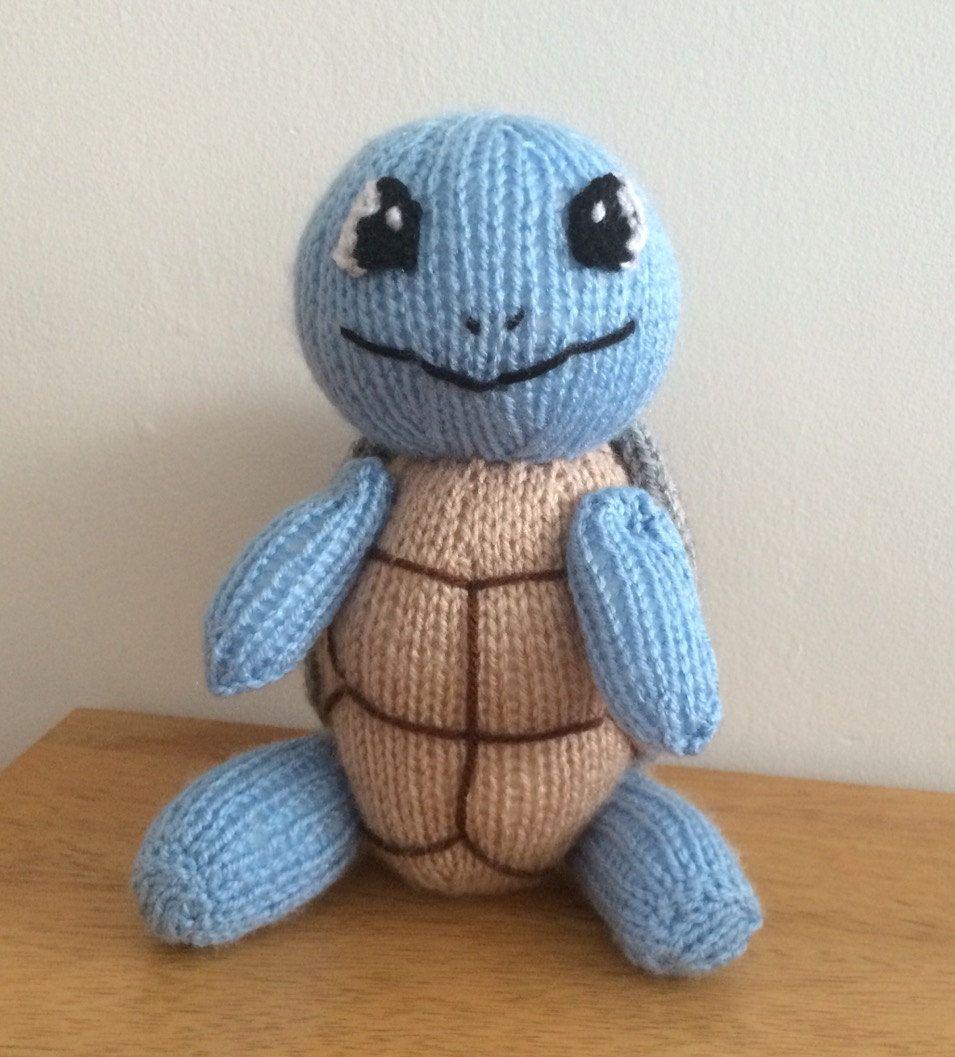 Knitting Patterns Turtle Toy : Squirtle toy knitting pattern pokemon plushie animal knit ...