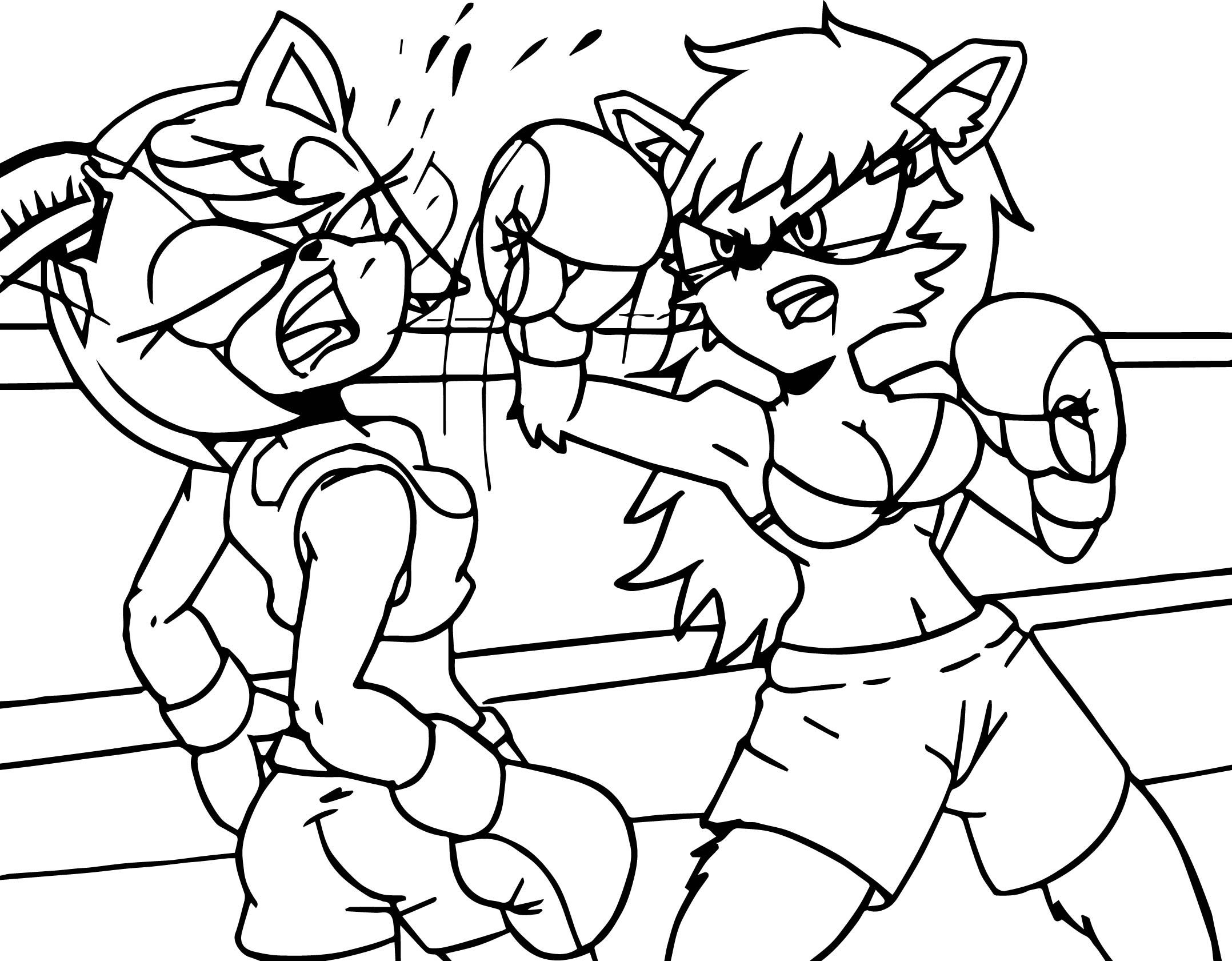 Awesome Amy Rose Boxing Coloring Page