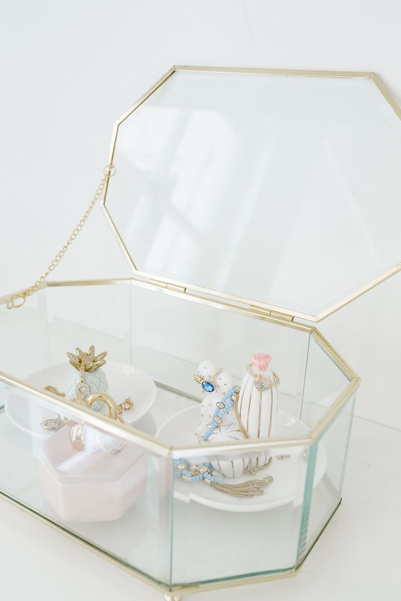 Kohls Jewelry Box Brilliant Lc Lauren Conrad Glass Geometric Jewelry Box  Pinterest  Lc Lauren