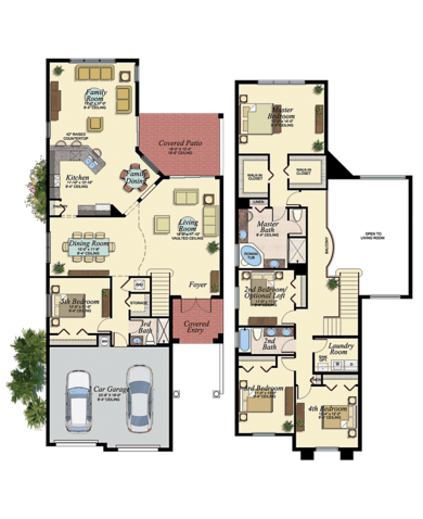 Jamaica Plan At Canyon Trails In Boynton Beach Florida 33473 By Gl Homes Coastal House Plans New House Plans Florida Real Estate