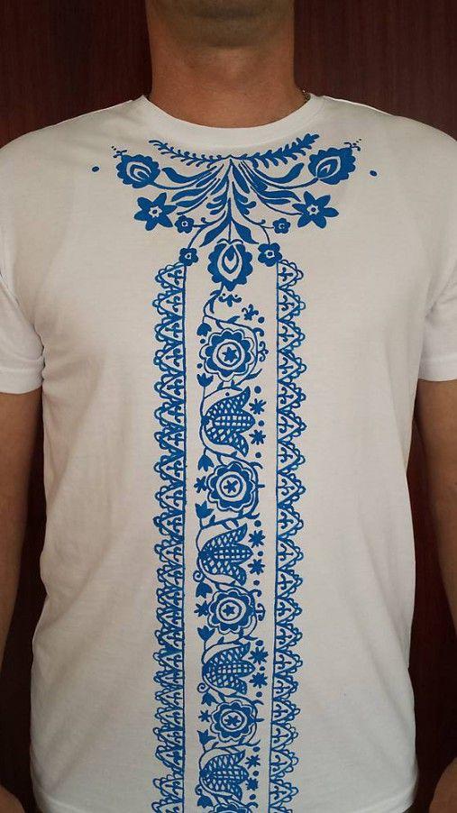 2bca32873 Pánske ľudové folklórne tričko / SrdcomFolklorista   tričká   Tričká ...