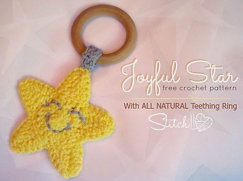 Ravelry: Joyful Star Teething Ring pattern by Corina Gray