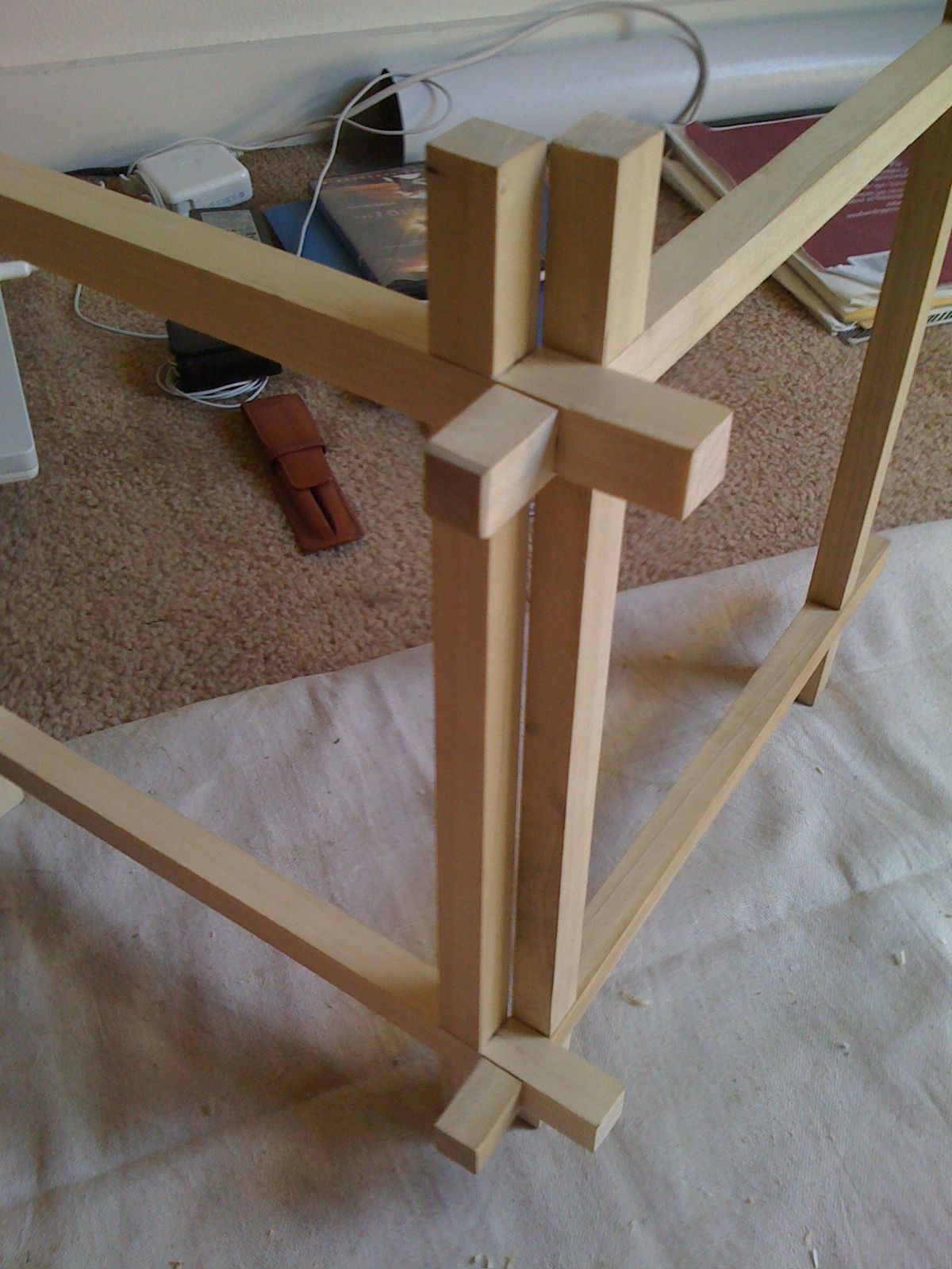 Japanese Joinery Lantern In Progress Wood Joints