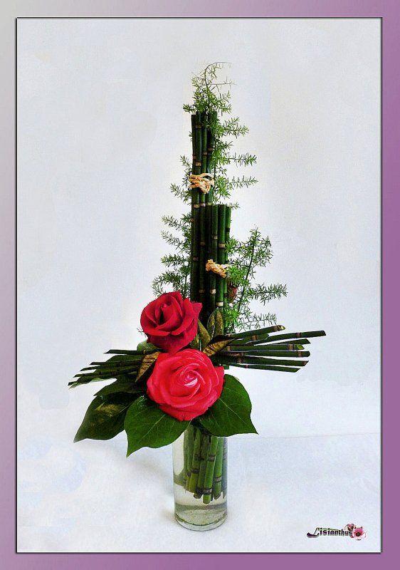 art floral bouquet cr ations florales de lisianthus compositions florales composition et. Black Bedroom Furniture Sets. Home Design Ideas