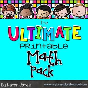 The ULTIMATE Printable Math Pack: Kindergarten Math | Maths, Math ...