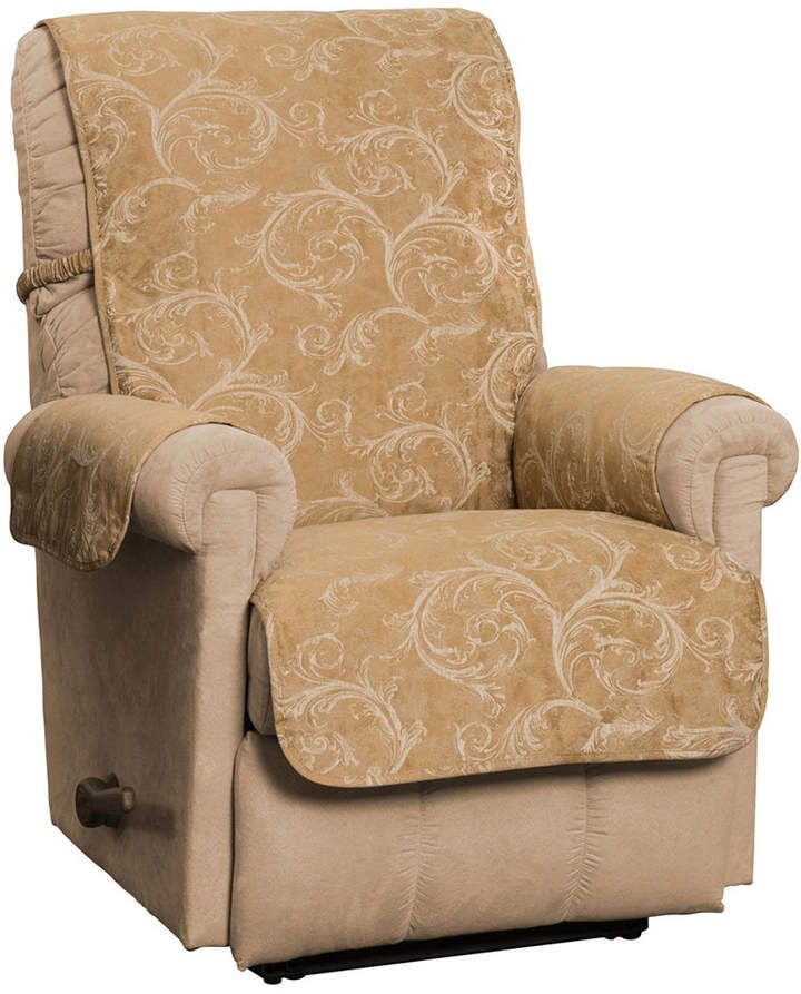 Innovative Textile Solutions Lemont Scroll Jacquard Recliner Wing Chair Club Chair Furniture Cover Slipcover In 2019 Wing Chair Club Chairs Furniture Covers