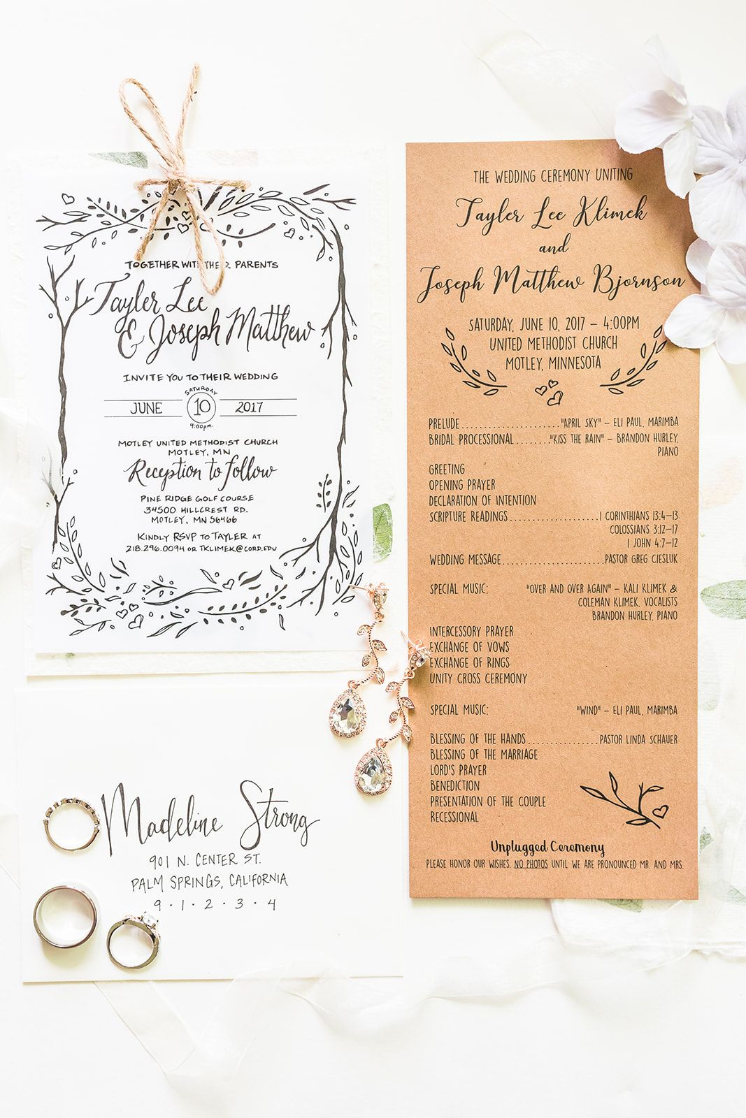 fargo nd wedding  wedding calligraphy wedding day