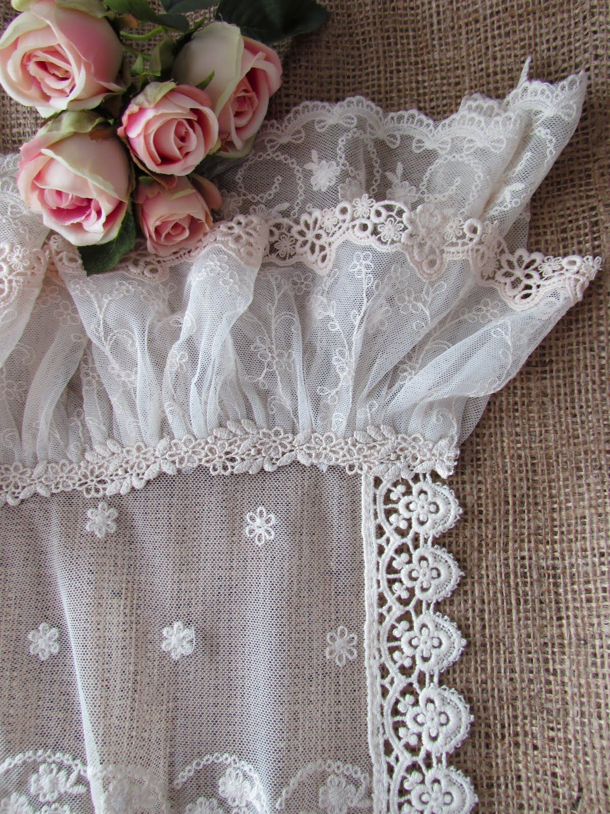 lace table runner from various vintage laces