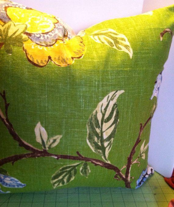Green Linen Pillow Cover on Etsy, $52.00
