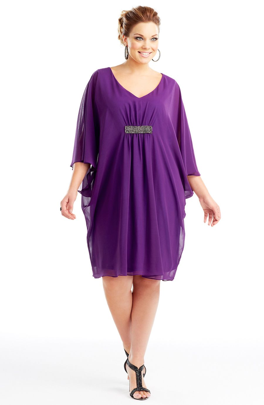 Metallic detail dress/Sweet Purple Style No: ED5120 Imitation silk ...