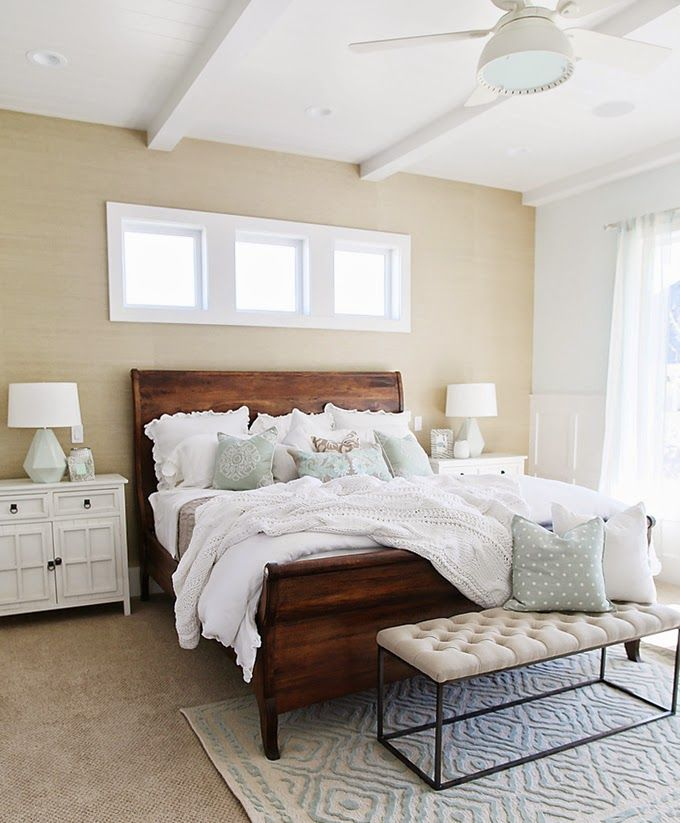 Lovely Bedroom | Four Chairs Furniture · White Bedroom Brown ...