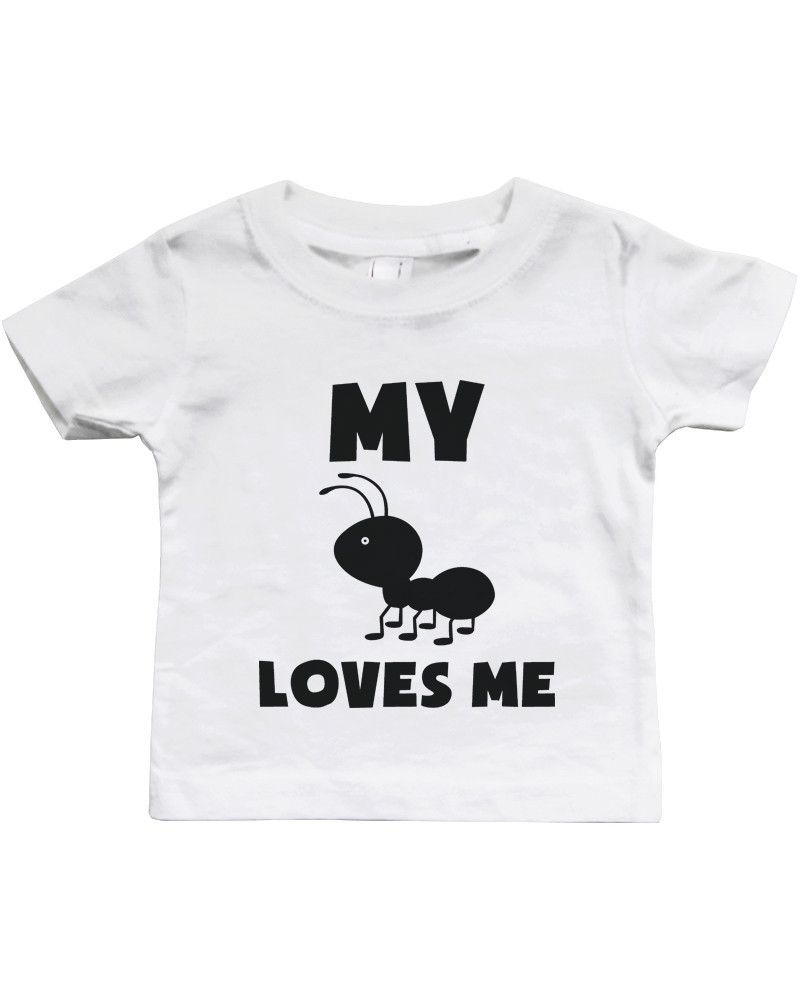 6be5e2d2 My Aunt Loves Me Funny Baby Shirts Gifts for Niece or Nephew Cute Infant  Tees
