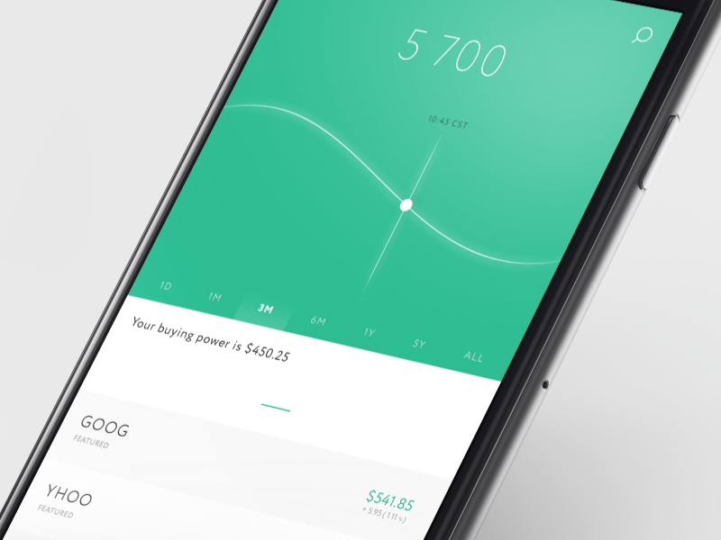 Robinhood Redesign PSD App design, Mobile app design