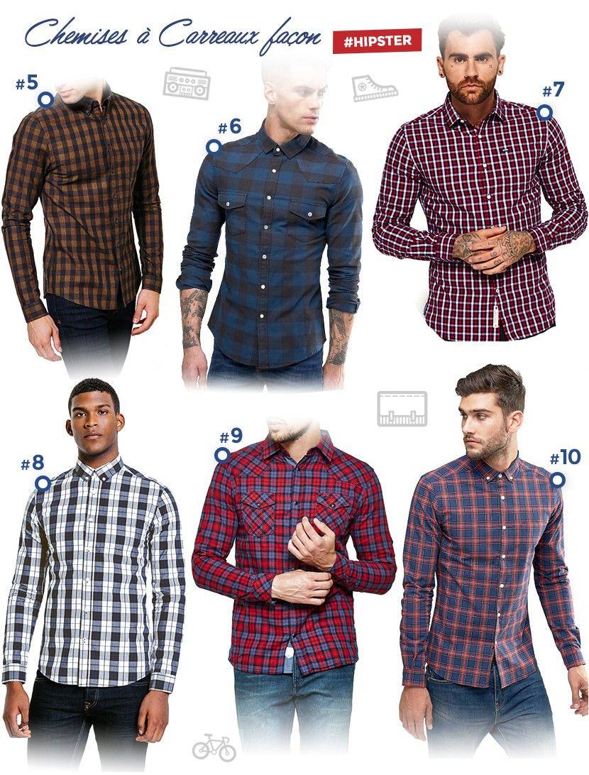 18 belles chemises carreaux pour homme men 39 s fashion - Mode carreaux ...