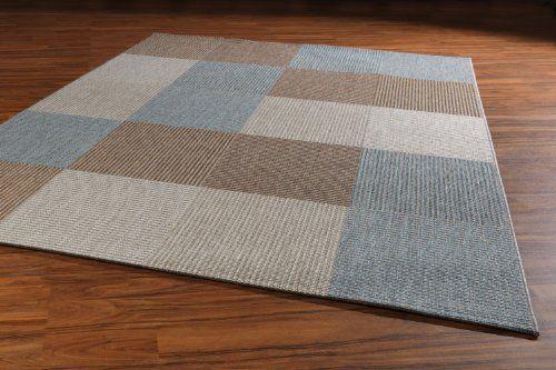 Teppich Webteppich creme / blau / braun kariert 200 x 290 cm Star - Teppich Wohnzimmer Braun