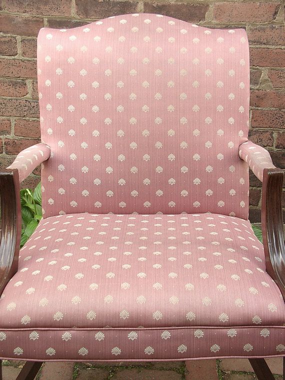 Vintage 1940\'s Pink Sateen chair, Pink bedroom chair, Antique chair ...
