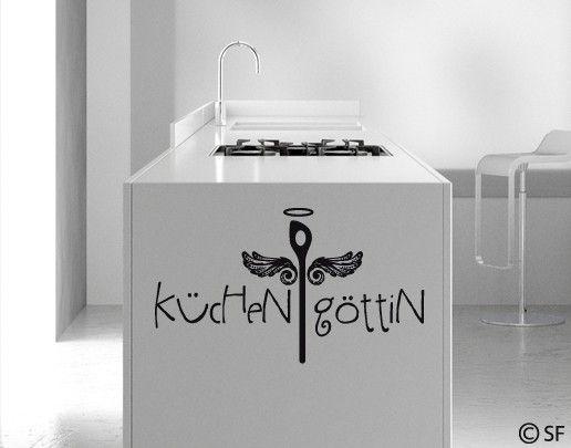 #Wandtattoo Sprüche - Wandworte No.SF759 #Küchengöttin #Küche #kitchen #essen #food #kochen #Appetit