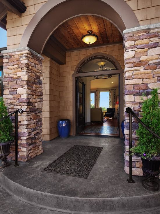 Traditional Exterior Front Porch Design Pictures Remodel Decor And Ideas Soooo Pretty: Arched Porch Ceilings Design, Pictures, Remodel, Decor And Ideas - Page 9
