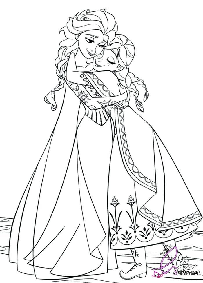 صور ديزنى للتلوين2018 روسومات شخصبات ديزنى للتلوين رسومات فروزن للتلوين Elsa Coloring Pages Disney Coloring Pages Princess Coloring Pages