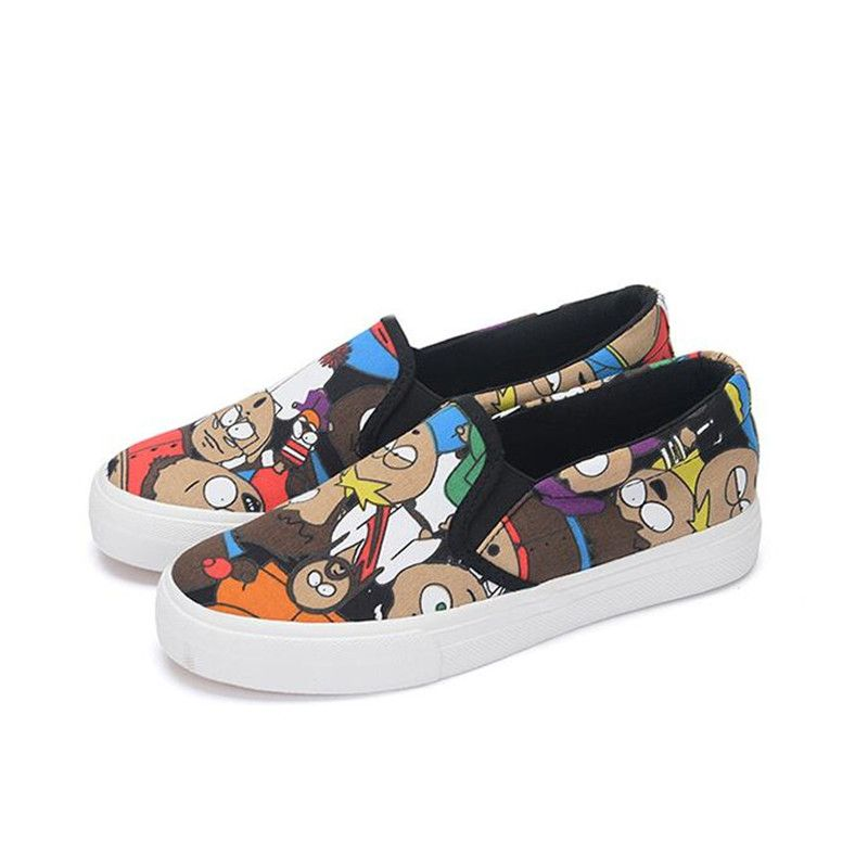 Skull Cool Cartoon Pattern Breathable Fashion Sneakers Running Shoes Slip-On Loafers Classic Shoes