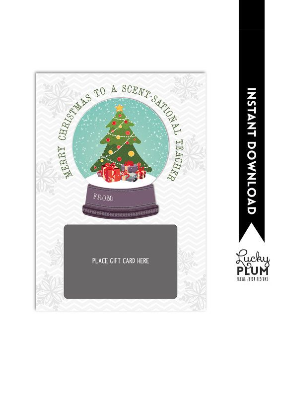 Scent-sational Gift Card Holder / Teacher Thank You Card / Christmas
