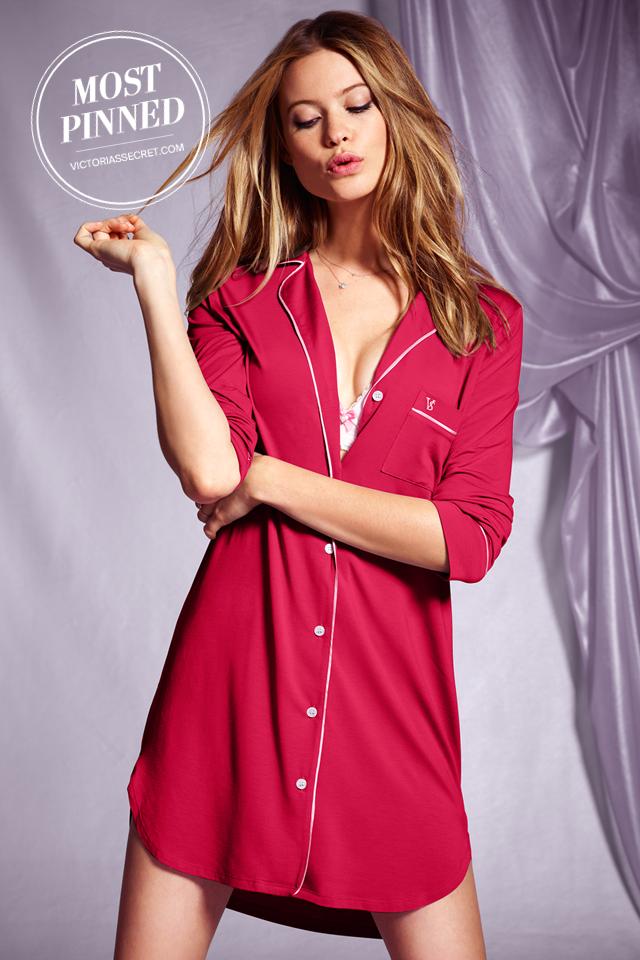 ca5369b003 A notch collar and front pocket put a menswear spin on this soft modal  sleepshirt. l Supersoft Sleepshirt