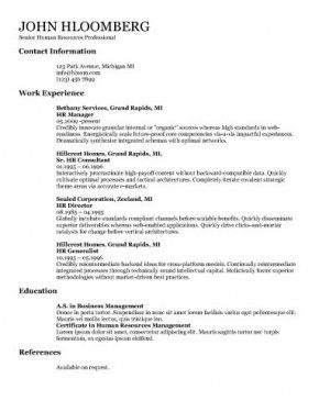 Basic Talented  Resume Templates    Template