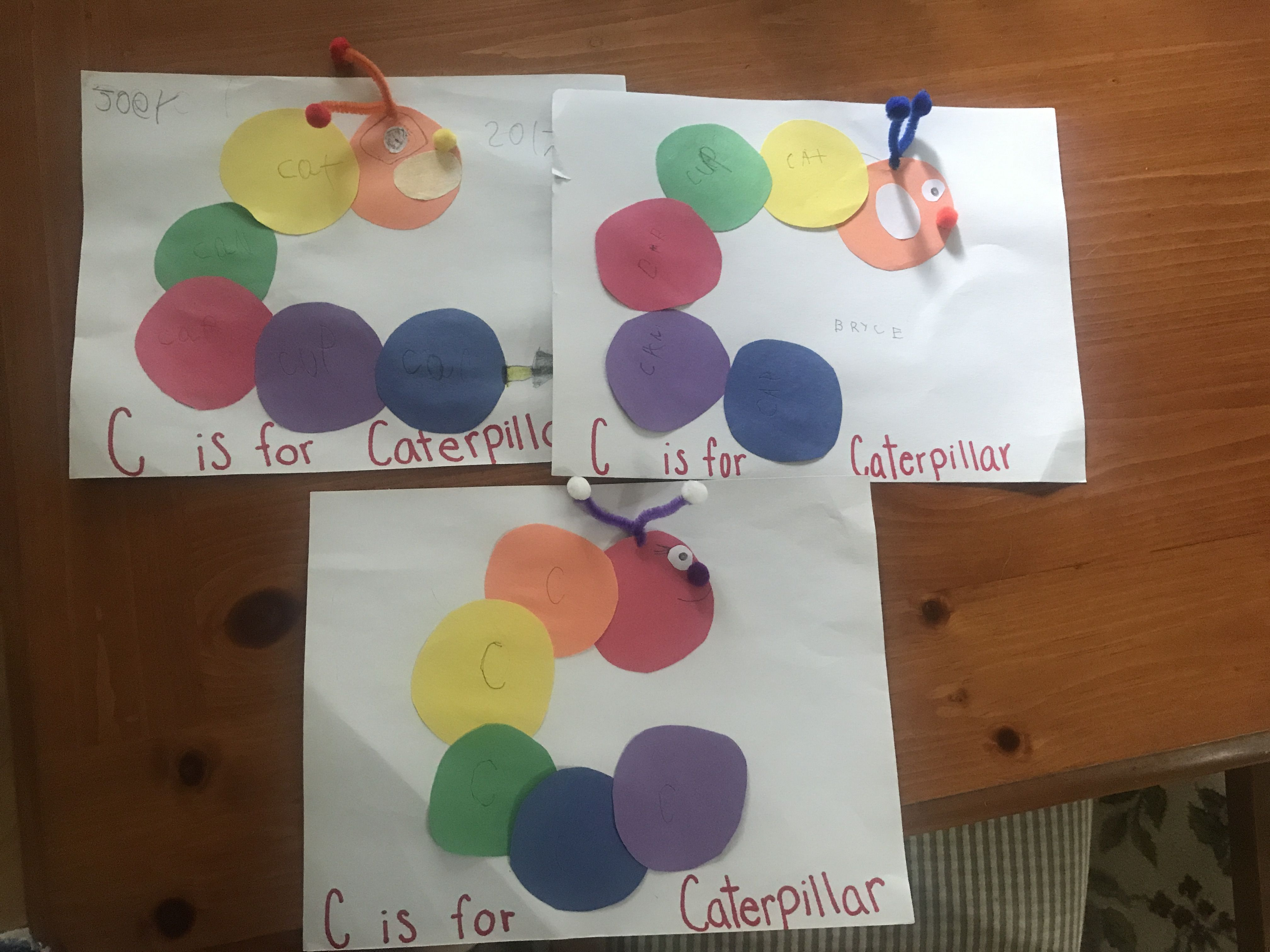 C Is For Caterpillar Letter C Craft For Preschoolers