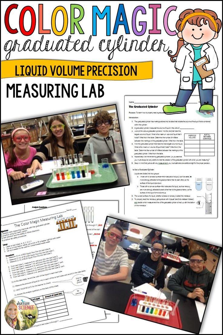 Graduated cylinder practice liquid volume measuring lab