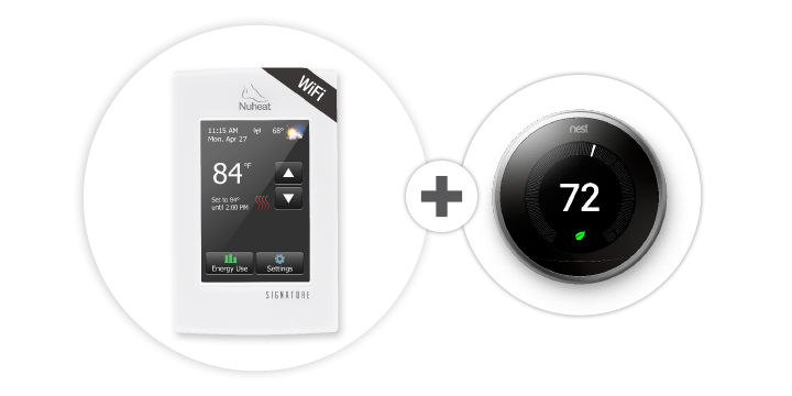 Signature Floor Heating Thermostat Works With Nest Home Security