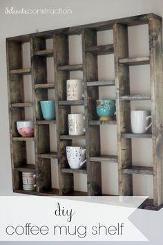 Diy Coffee Mug Shelf With Images Diy Coffee Bar Diy Coffee