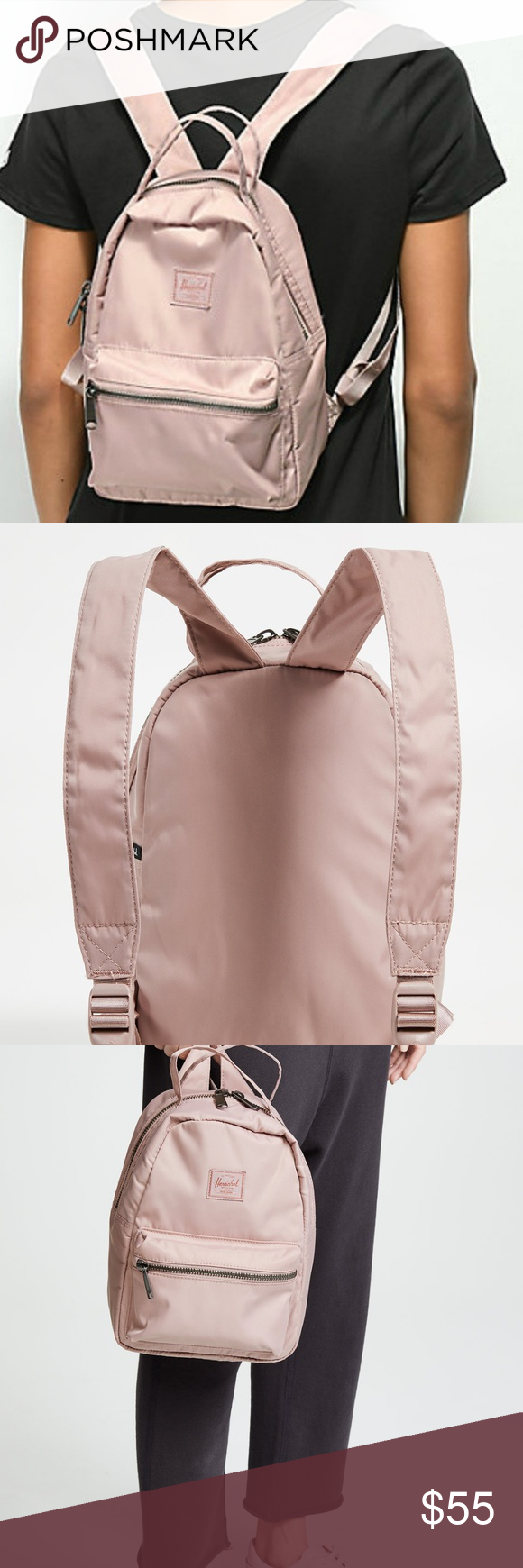 94c0c164bf NWT Herschel Nova Mini Backpack in Satin Ash Rose Herschel Supply Co Flight  Satin Nova Mini Backpack Ash Rose Super cute pink Herschel Supply Company  Bags ...