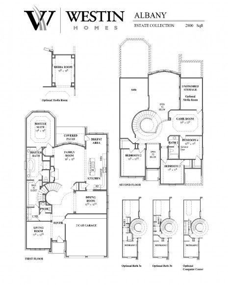 Floorplan The Albany Westin Homes Westin Homes Home