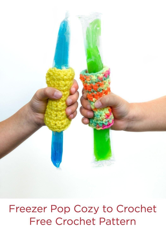 Freezer Pop Cozy to Crochet Free Crochet Pattern in Red Heart Super ...