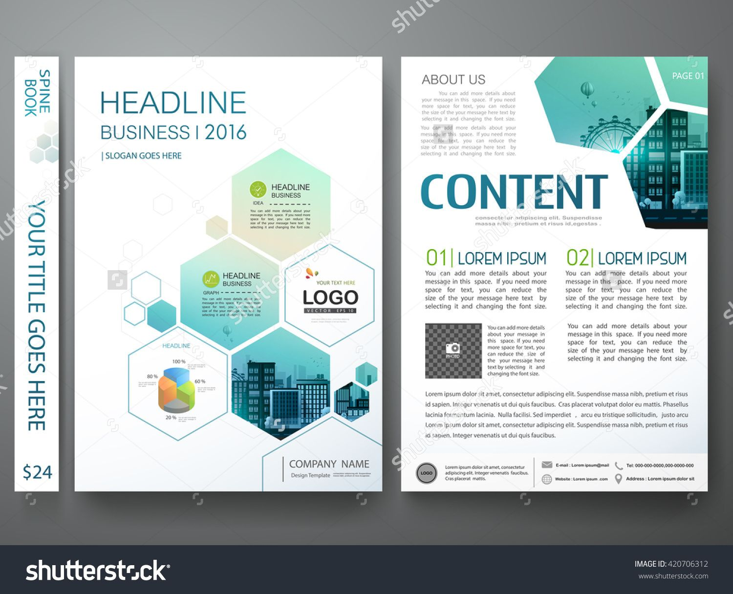Brochure design template vector flyers annual report business brochure design template vector flyers annual report business magazine poster leaflet cover book portfolio presentation with abstract minimal blue hexagon accmission Image collections