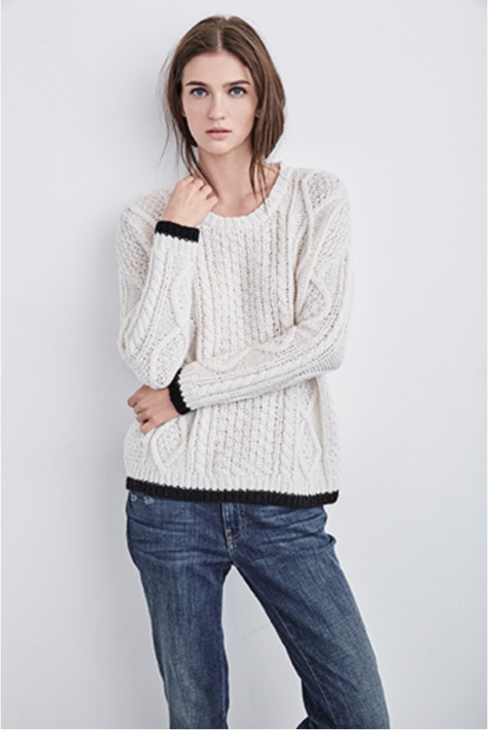 joan cable knit sweater