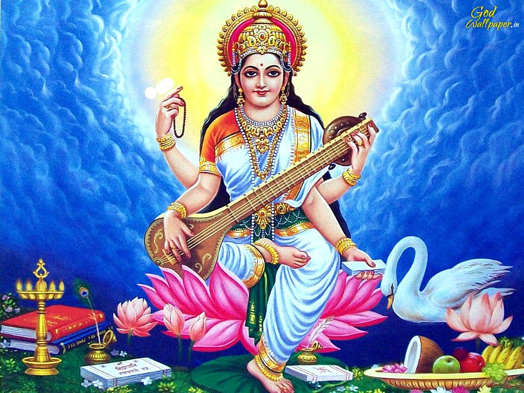 Saraswati Goddess Of Creativity Knowledge Wisdom Saraswati Goddess Basant Panchami Goddess