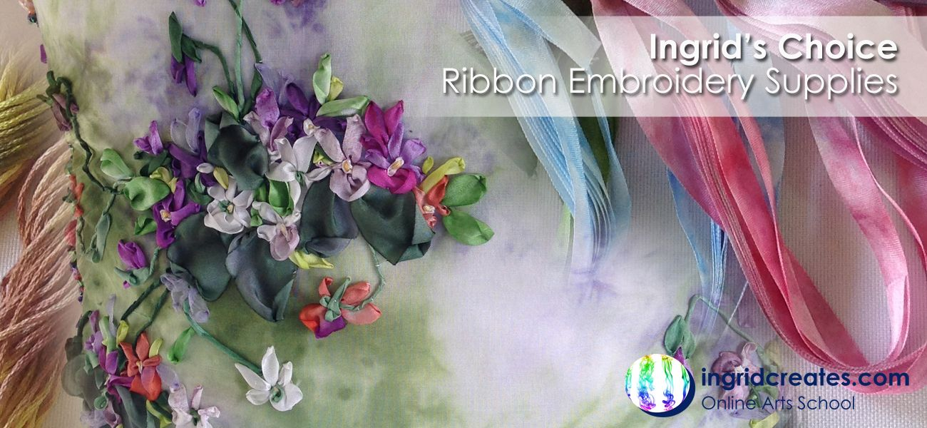Silk Ribbon Embroidery Supplies Ingrid Creates Online Shop Sewing