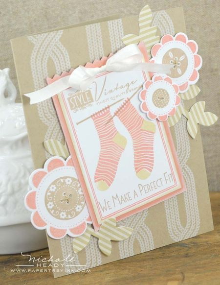 Perfect Fit Card by Nichole Heady for Papertrey Ink (November 2012)