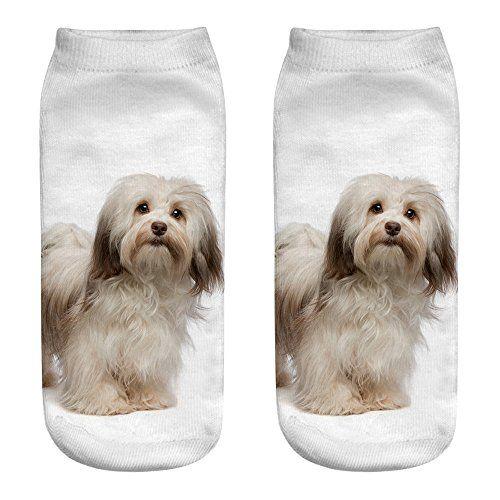 Photo of UJUNAOR Unisex Baumwollsocken Casual Gedruckte Süßer Hund Socken Füßlinge au…