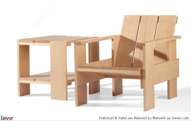 Gerrit Rietveld Kratstoel : Kratstoel tafel rietveld by rietveld design rietveld